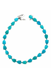Vogue Crafts and Designs Pvt. Ltd. manufactures Turquoise Stone Silver Bracelet at wholesale price.