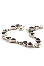 Vogue Crafts and Designs Pvt. Ltd. manufactures Triangular Stone Silver Bracelet at wholesale price.