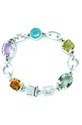 Vogue Crafts and Designs Pvt. Ltd. manufactures Multicolor Silver Bracelet at wholesale price.