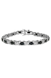Vogue Crafts and Designs Pvt. Ltd. manufactures Black Stone Silver Bracelet at wholesale price.
