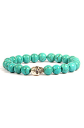 Vogue Crafts and Designs Pvt. Ltd. manufactures Turquoise Beads Silver Bracelet at wholesale price.