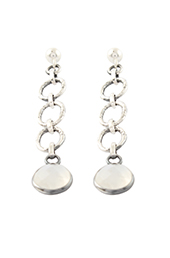 Vogue Crafts and Designs Pvt. Ltd. manufactures Multiple Circle Silver Earrings at wholesale price.
