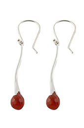 Vogue Crafts and Designs Pvt. Ltd. manufactures Maroon Stone Drops Silver Earrings at wholesale price.
