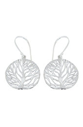 Vogue Crafts and Designs Pvt. Ltd. manufactures Filigree Tree Silver Earrings at wholesale price.