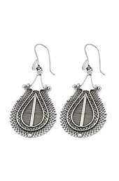 Vogue Crafts and Designs Pvt. Ltd. manufactures Vintage Filigree Silver Earrings at wholesale price.