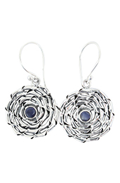 Vogue Crafts and Designs Pvt. Ltd. manufactures Purple Stone Illusion Silver Earrings at wholesale price.