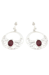 Vogue Crafts and Designs Pvt. Ltd. manufactures Filigree Circular Silver Earrings at wholesale price.
