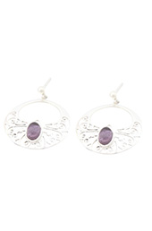Vogue Crafts and Designs Pvt. Ltd. manufactures Sterling Silver Purple Stone Earrings at wholesale price.
