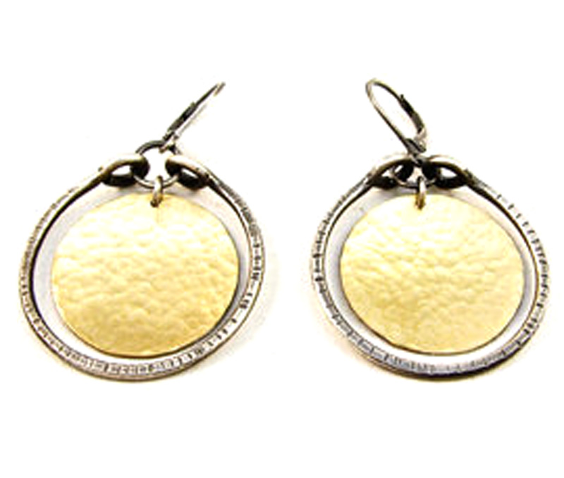 Vogue Crafts & Designs Pvt. Ltd. manufactures Hammered Silver Disc Earrings at wholesale price.