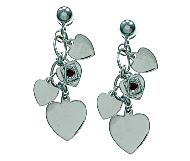 Vogue Crafts & Designs Pvt. Ltd. manufactures Silver Heart Dangler Earrings at wholesale price.