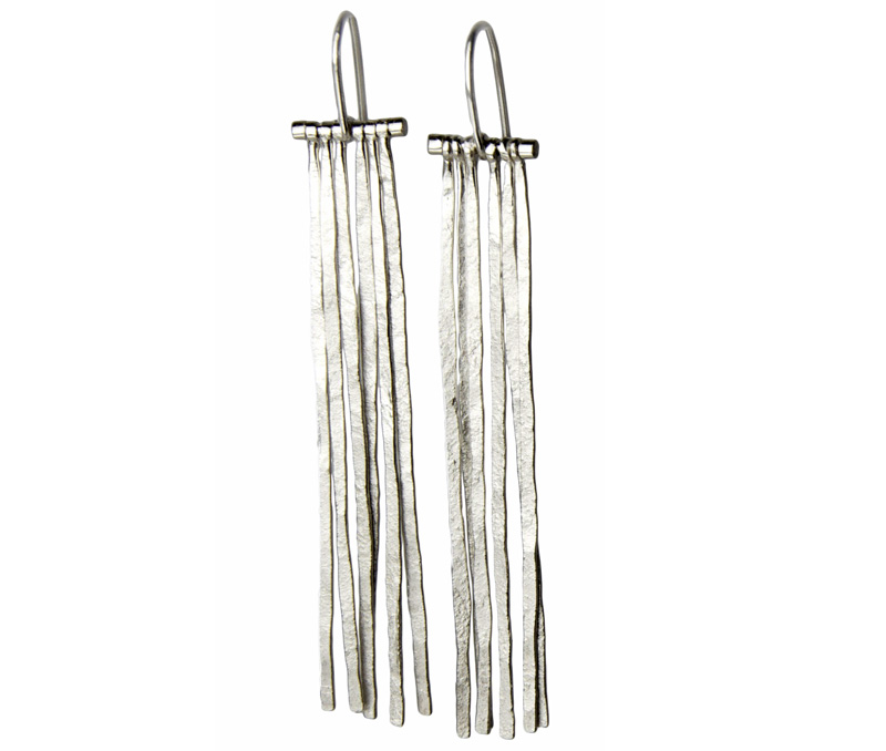 Vogue Crafts & Designs Pvt. Ltd. manufactures The Silver Fringe Earrings at wholesale prices.