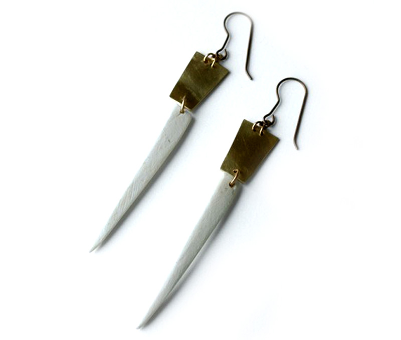 Vogue Crafts & Designs Pvt. Ltd. manufactures Silver Sword Earrings at wholesale price.