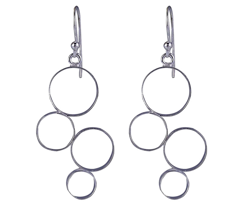 Vogue Crafts & Designs Pvt. Ltd. manufactures Bubble Silver Earrings at wholesale price.