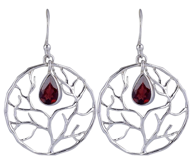 Vogue Crafts & Designs Pvt. Ltd. manufactures Sterling Silver Tree Earrings at wholesale price.