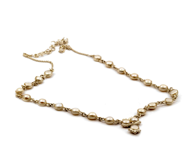 Vogue Crafts & Designs Pvt. Ltd. manufactures Sterling Silver Pearl Necklace at wholesale price.