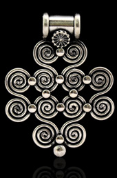 Spiral Cluster Silver Pendant