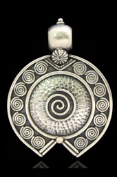 Vogue Crafts and Designs Pvt. Ltd. manufactures Spiral Silver Pendant at wholesale price.
