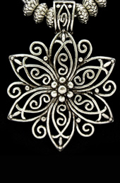 Vogue Crafts and Designs Pvt. Ltd. manufactures Sterling Silver Flower Pendant at wholesale price.
