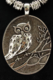 Vogue Crafts and Designs Pvt. Ltd. manufactures Silver Owl Pendant at wholesale price.