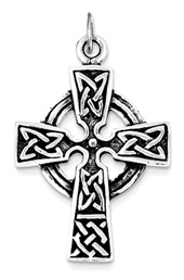 Vogue Crafts and Designs Pvt. Ltd. manufactures Celtic Cross Silver Pendant at wholesale price.