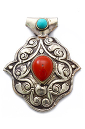 Vogue Crafts and Designs Pvt. Ltd. manufactures Multicolor Stone Silver Pendant at wholesale price.