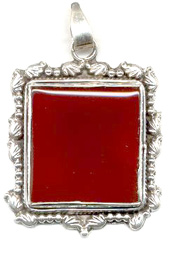 Vogue Crafts and Designs Pvt. Ltd. manufactures Square Stone Silver Pendant at wholesale price.