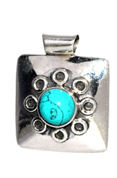 Vogue Crafts and Designs Pvt. Ltd. manufactures Square Silver Pendant at wholesale price.