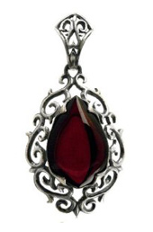 Vogue Crafts and Designs Pvt. Ltd. manufactures Antique Maroon Stone Silver Pendant at wholesale price.