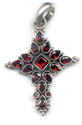 Vogue Crafts and Designs Pvt. Ltd. manufactures Maroon Stone Cluster Silver Pendant at wholesale price.