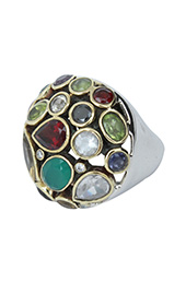 Vogue Crafts and Designs Pvt. Ltd. manufactures Sterling Silver Multicolor Stone Ring at wholesale price.