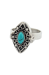 Vogue Crafts and Designs Pvt. Ltd. manufactures Turquoise Stone Silver Ring at wholesale price.