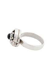 Vogue Crafts and Designs Pvt. Ltd. manufactures Black Star Silver Ring at wholesale price.