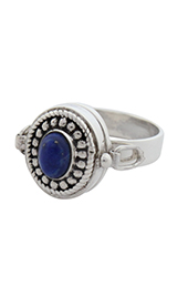 Vogue Crafts and Designs Pvt. Ltd. manufactures The Blue-Bud Pill-box Ring at wholesale price.