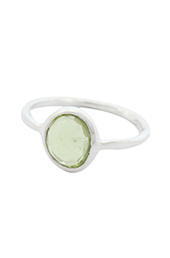 Vogue Crafts and Designs Pvt. Ltd. manufactures Simple Green Stone Silver Ring at wholesale price.