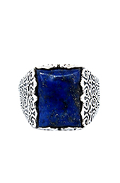 Vogue Crafts and Designs Pvt. Ltd. manufactures The Blue-Glory Silver Ring at wholesale price.