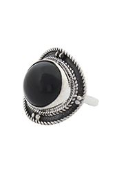 Vogue Crafts and Designs Pvt. Ltd. manufactures The Black Jade Oxidised Ring at wholesale price.