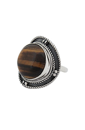 Vogue Crafts and Designs Pvt. Ltd. manufactures Tiger-Eyed Oxidised Ring at wholesale price.