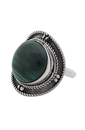 Vogue Crafts and Designs Pvt. Ltd. manufactures The Malachite Oxidised Ring at wholesale price.