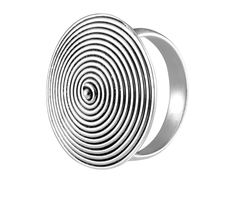 Latest Design Jewelry - Concentric Circle Silver Ring .