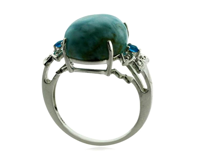 Vogue Crafts & Designs Pvt. Ltd. manufactures The Turquoise Stone Ring at wholesale price.