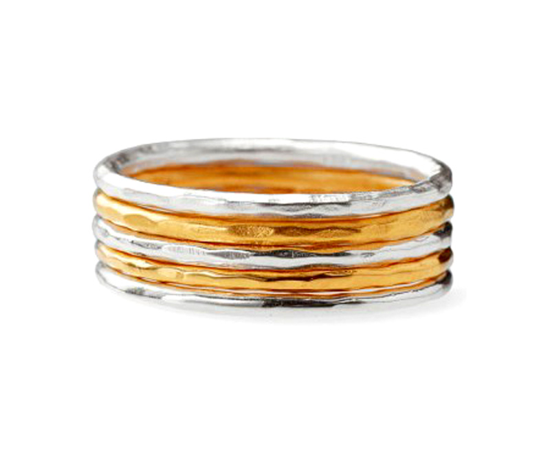 Latest Design Jewelry - Two Tone Silver Ring .