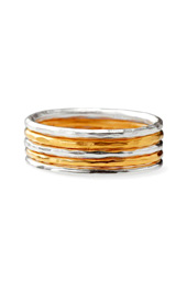 Vogue Crafts and Designs Pvt. Ltd. manufactures Two Tone Silver Ring at wholesale price.