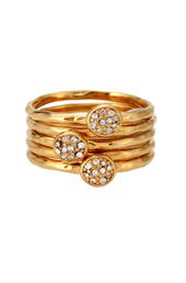 Golden Flowers Ring