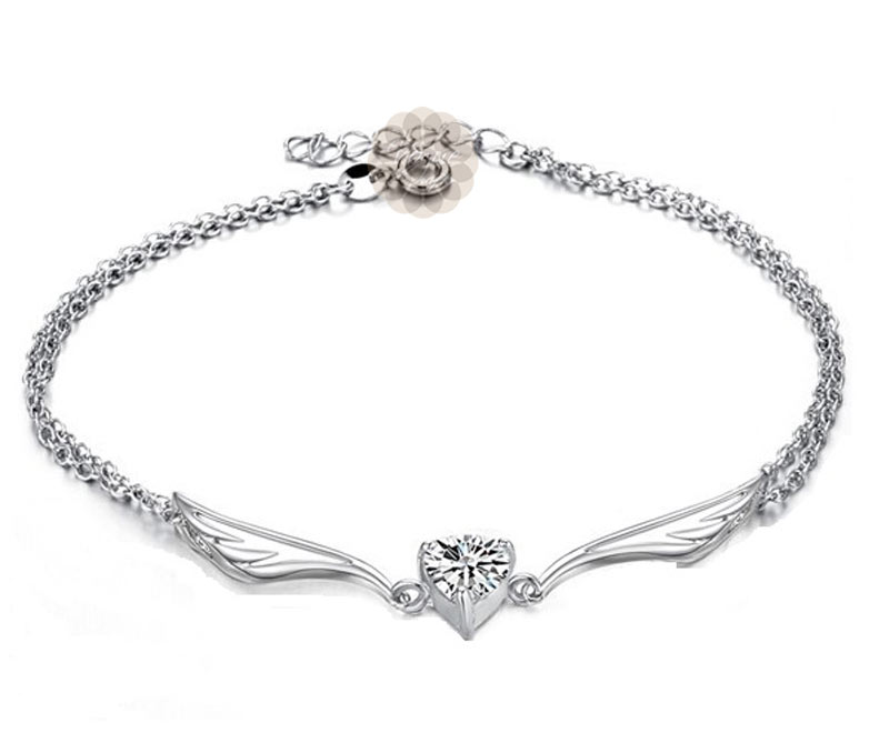 Vogue Crafts & Designs Pvt. Ltd. manufactures Celestial Wings Silver Anklet at wholesale price.