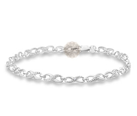 Vogue Crafts and Designs Pvt. Ltd. manufactures Infinity Silver Anklet at wholesale price.