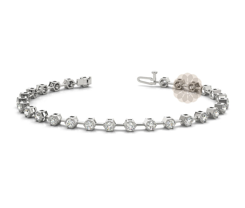 Vogue Crafts & Designs Pvt. Ltd. manufactures White Stone Silver Anklet at wholesale price.
