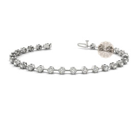 Vogue Crafts and Designs Pvt. Ltd. manufactures White Stone Silver Anklet at wholesale price.