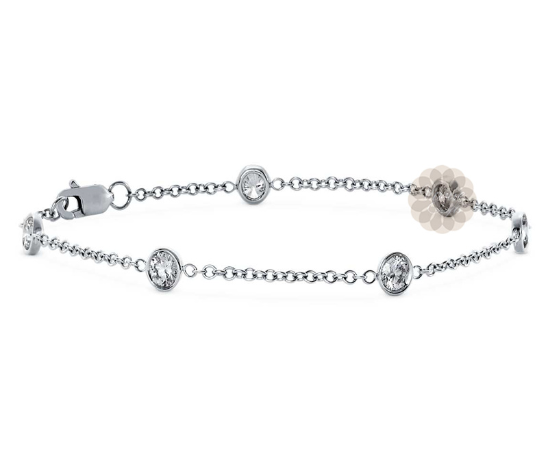 Vogue Crafts & Designs Pvt. Ltd. manufactures Round Stone Silver Anklet at wholesale price.