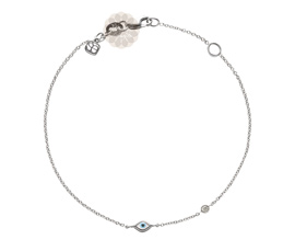 Vogue Crafts and Designs Pvt. Ltd. manufactures Evil Eye Silver Anklet at wholesale price.