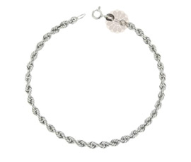 Vogue Crafts and Designs Pvt. Ltd. manufactures Twisted Chain Silver Anklet at wholesale price.